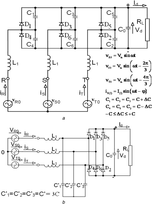 Variants of RNSIC converters a RNSIC-1 with six DC