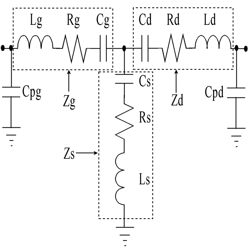 T he transformed cold FET model when the device is biased