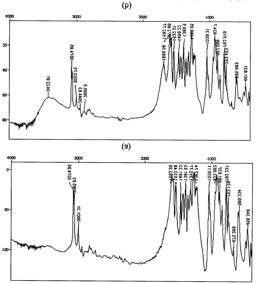Infrared spectra of RDX (a) and RDX + bonding agent I (b