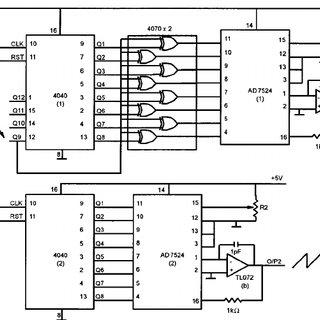The circuit diagram of the digital signal generator used