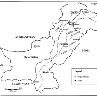Indus River basin in Pakistan. colonial irrigation (e.g