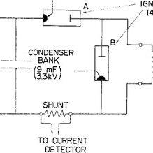 Schematic diagram of condenser bank circuit [3