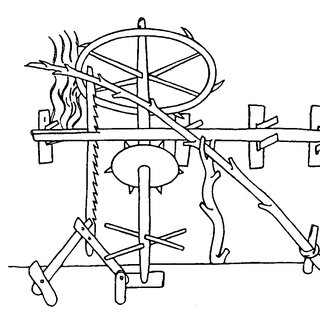 Sarrus spatial linkage for drawing a straight line (photo