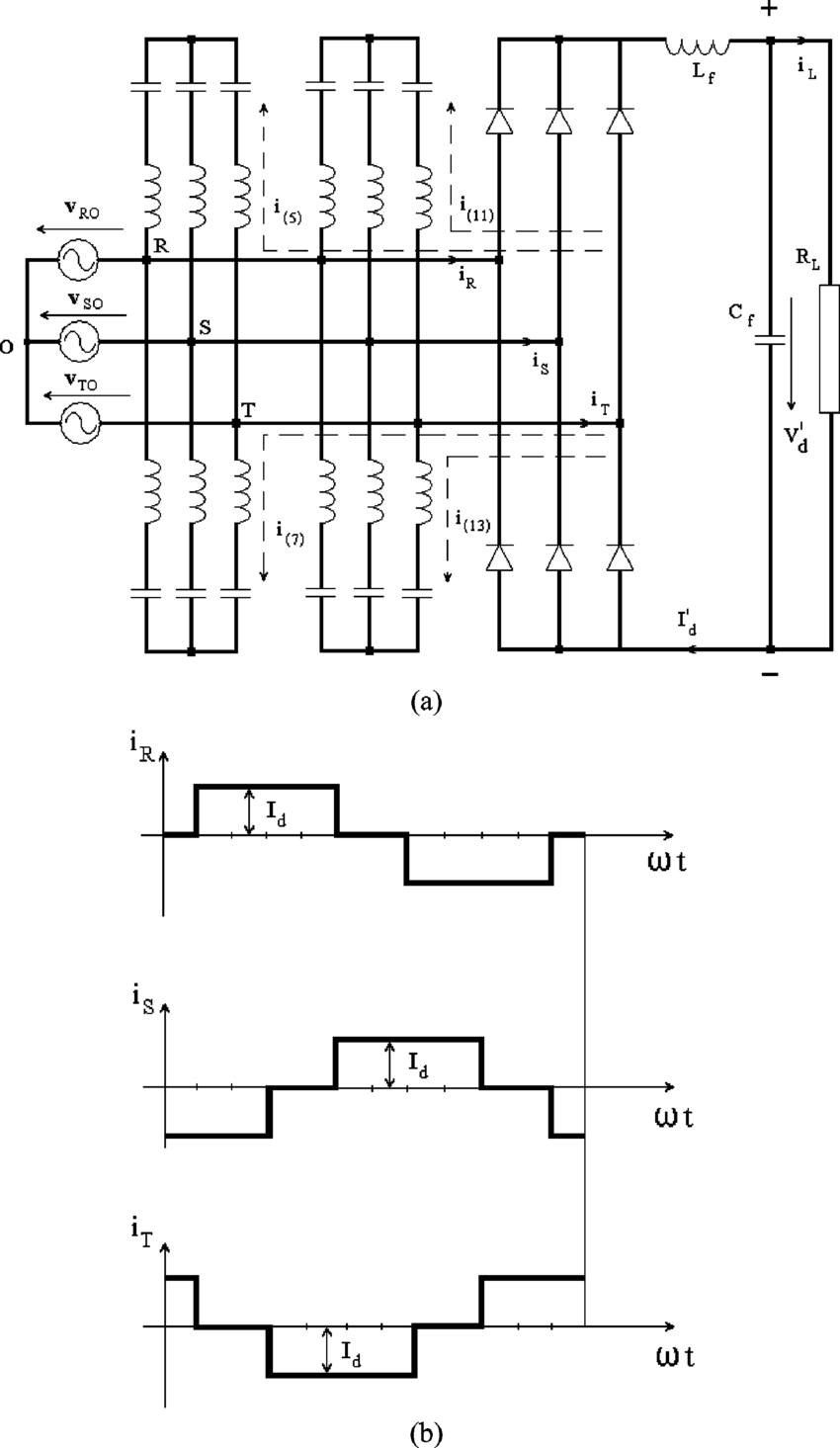 Three Phase Rectifier Using Diodes