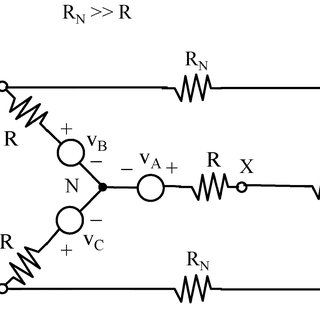 Circuit model of a three-phase delta-configured motor