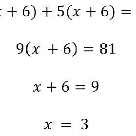 Seeing structure in an expression when solving an equation