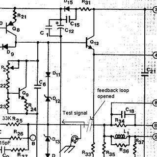 Hafler DH500 audio power amplifier schematic, on channel