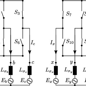 Basic topology of three-phase neutral-point-clamped