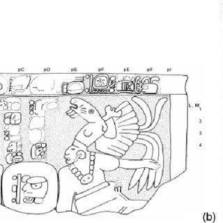 Emblem Glyph of Acanceh. (a) Vase (drawing Alexander W