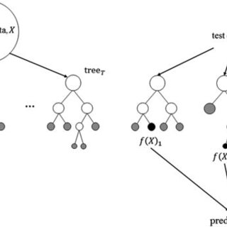 Conceptual diagram of the RANDOM FOREST algorithm. On the