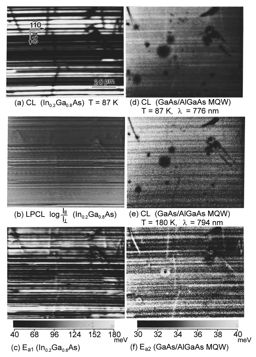 medium resolution of cl imaging of the 185 in 0 2 ga 0 8 as hemt sample showing a download scientific diagram