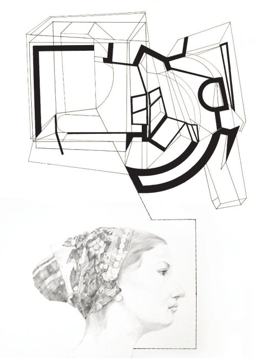small resolution of l dia jergu ov vydaren head ink drawing and pencil on the left