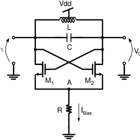 The differential LC oscillator with constant current tail