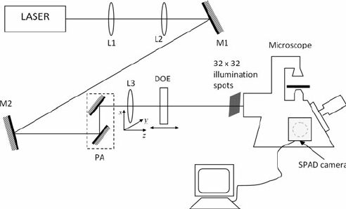 Scheme of the optical setup used for the creation of the
