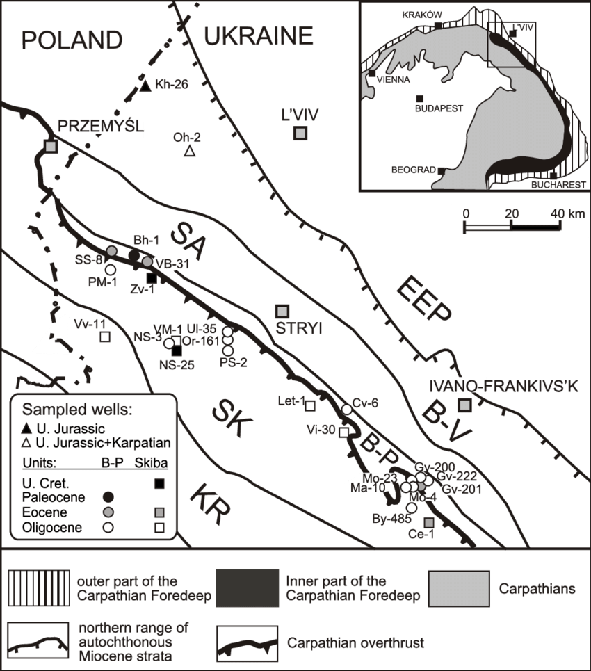 medium resolution of sketch geo log i cal map show ing lo ca tion of crude oil sam pling
