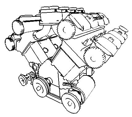 Modified 2-pass silhouette algorithm employed onto a V8