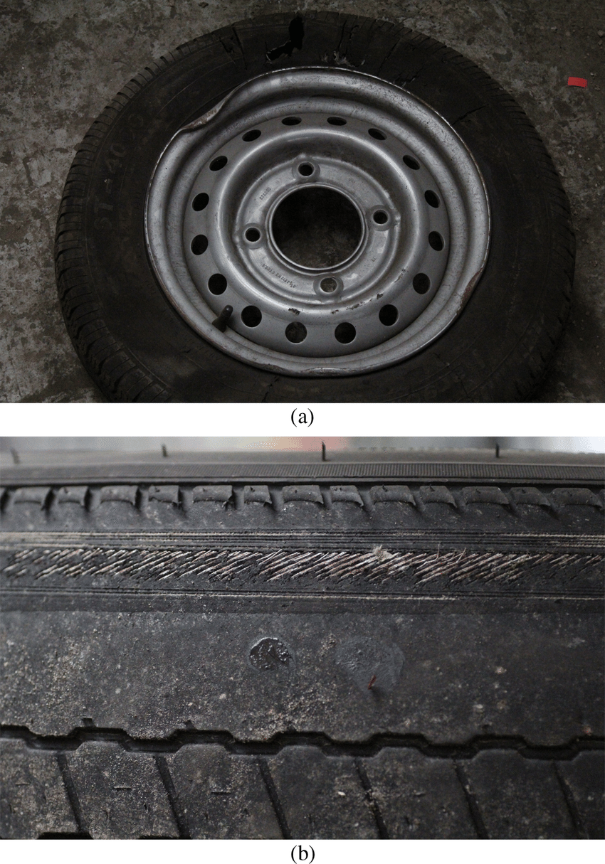 medium resolution of examples of trailer wheel issues a wheel rim damage probably from wet kit diagram