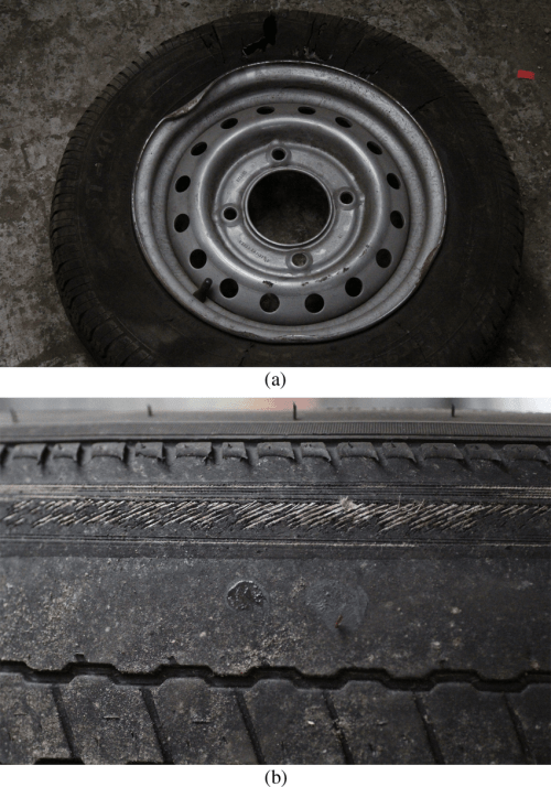 small resolution of examples of trailer wheel issues a wheel rim damage probably from wet kit diagram