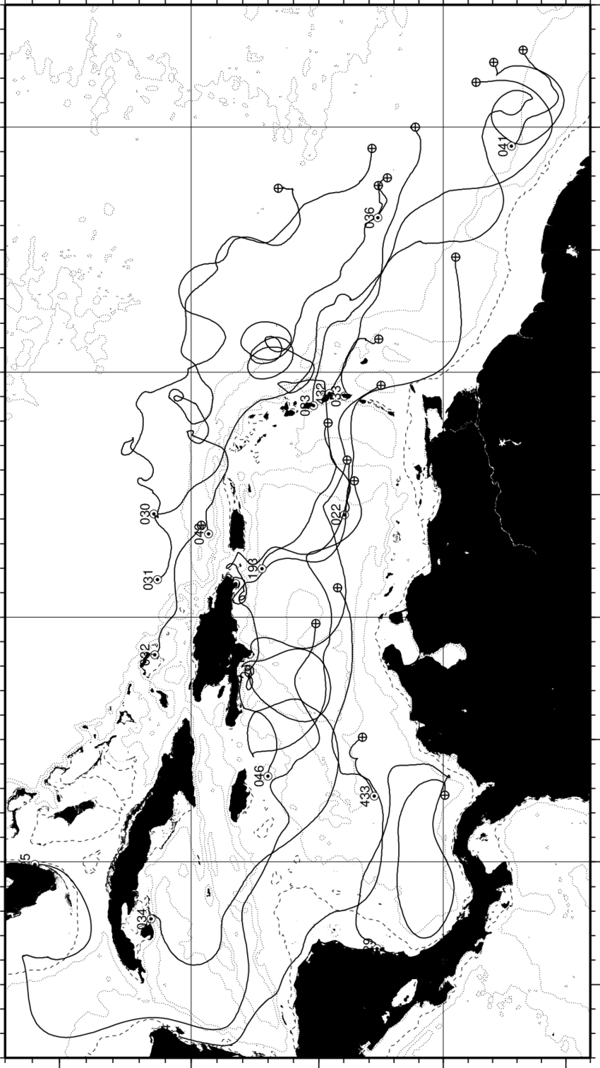 Figure C13: A summary of float trajectories after