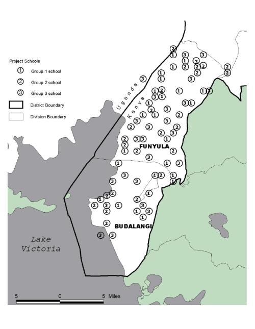 small resolution of map of budalangi and funyula divisions busia district kenya download scientific diagram
