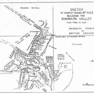 Copies of Chinnery's original drawings of Mt Yule (NLA MAP