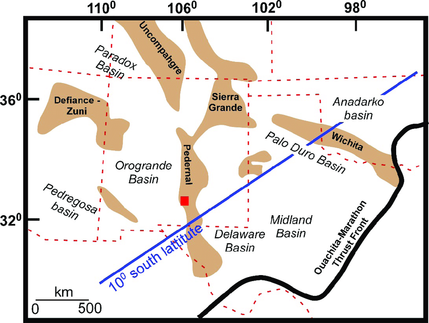 map of the ancestral