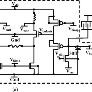 (a) Circuit schematic of the CMOS receiver chip (inside