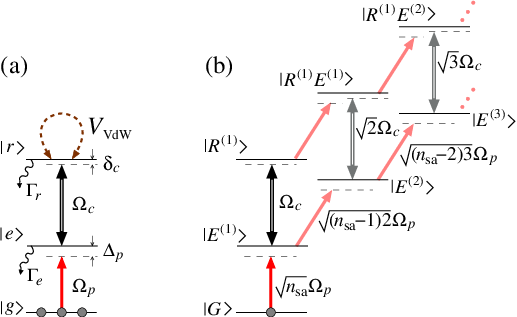 (a) Level scheme of atoms interacting with the probe Ω p