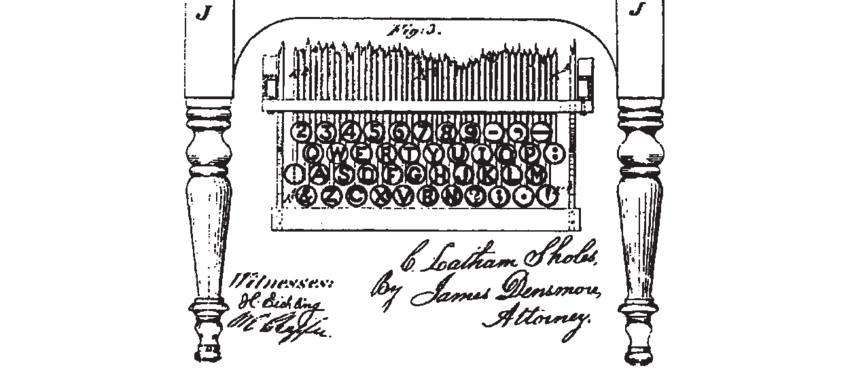 QWERTY keyboard layout from Christopher Sholes, 1878 U.S