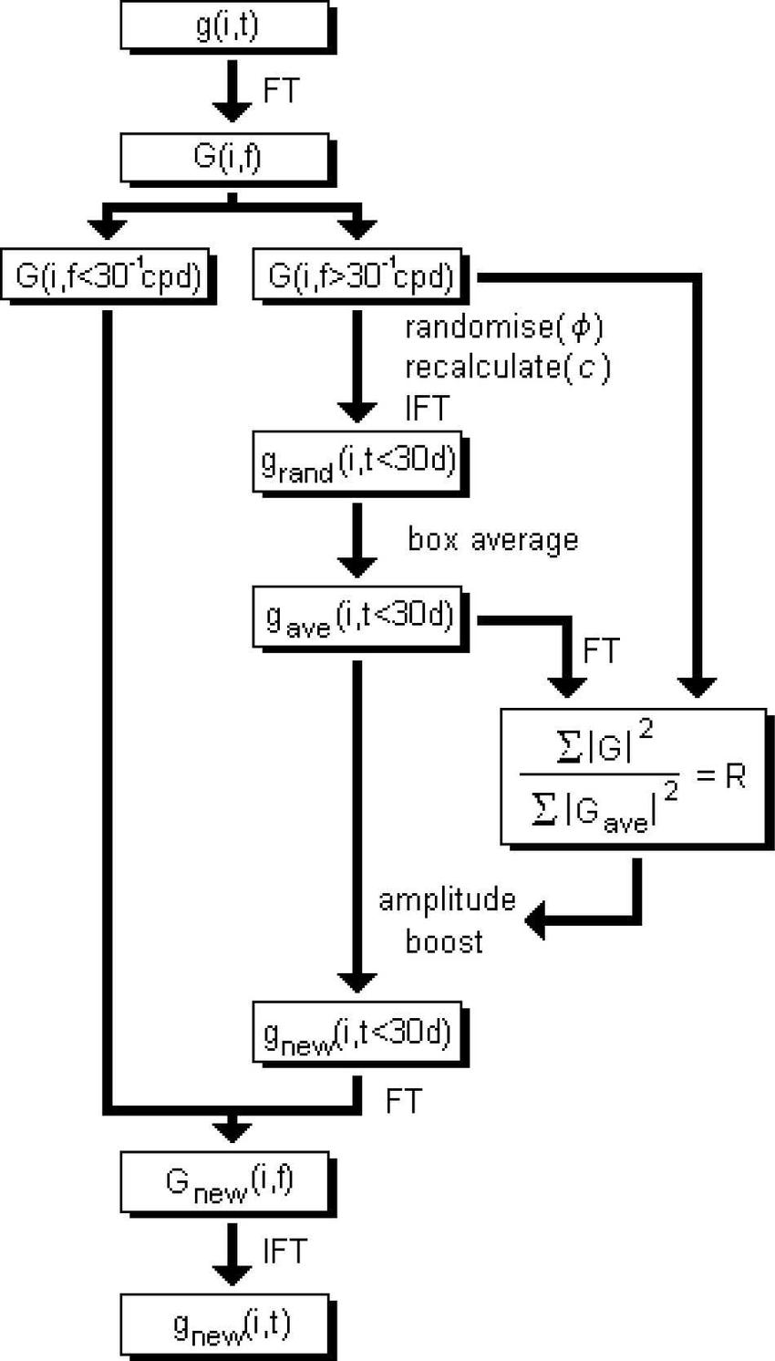 Flow diagram, describing the process of randomizing the
