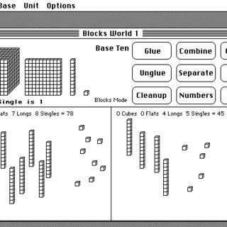 Manipulating Dienes' blocks on-screen, with the