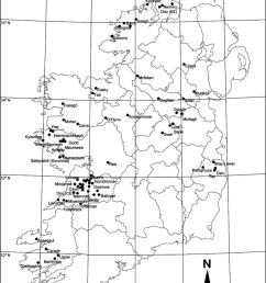 location of 72 study lakes included in the diatom training set for the irish ecoregion  [ 850 x 1117 Pixel ]