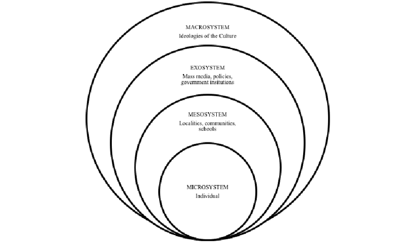 Socio- ecological model adopted from Bronfenbrenner's