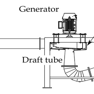 Schematic of the micro-hydro turbine test facility at the