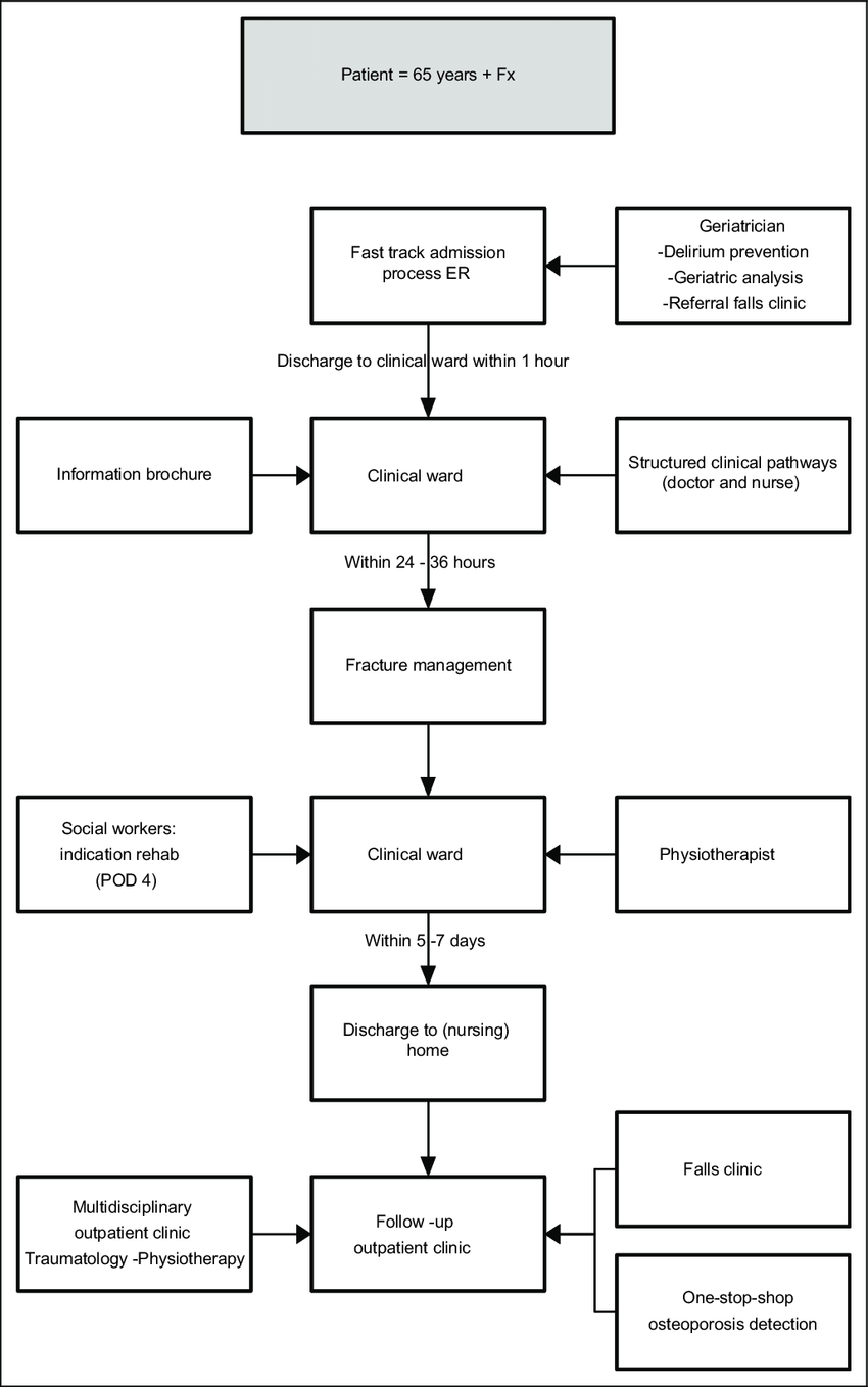 Flowchart for the treatment of the older patient with a