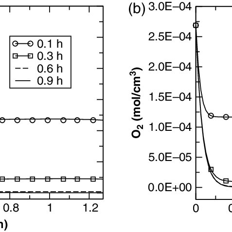 (a) Time-dependent depletion of oxygen inside the crevice