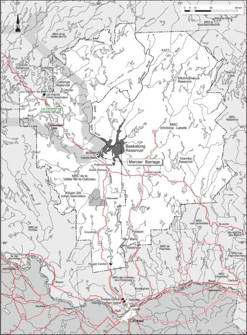 small resolution of location map of baskatong reservoir qu bec canada download scientific diagram