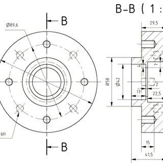 Wheel Hub Design (left) Traction Wheel Cover Design (right