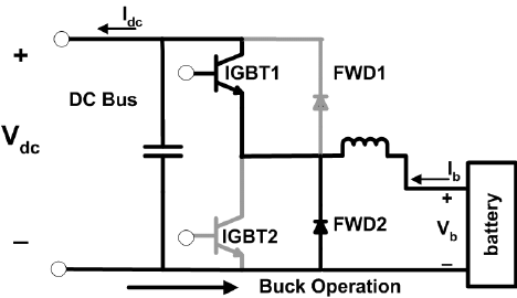Buck operation of DC/DC converter circuit diagram