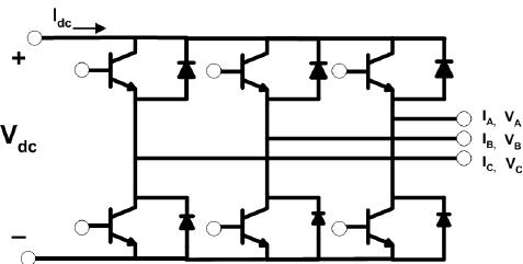 Three-phase inverter circuit diagram