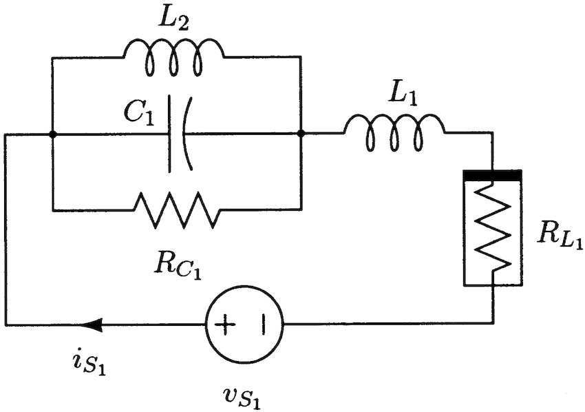 Simple RLC circuit with nonlinear current-controlled resistor.