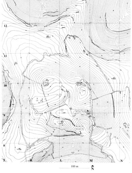 c. Gobekli Tepe topographical map and site plan of