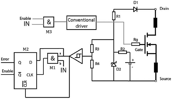 Schematic diagram of the short-circuit detection