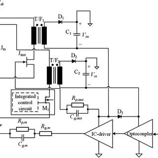 Schematic diagram of the totem-pole gate driver for