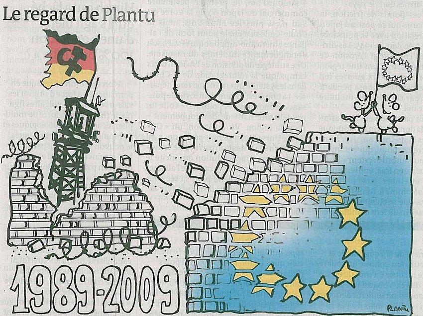 Fall Berlin Wall Political Cartoon