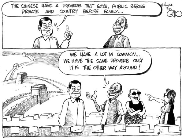 Cartoon on the 'cultural clash' between Chinese and