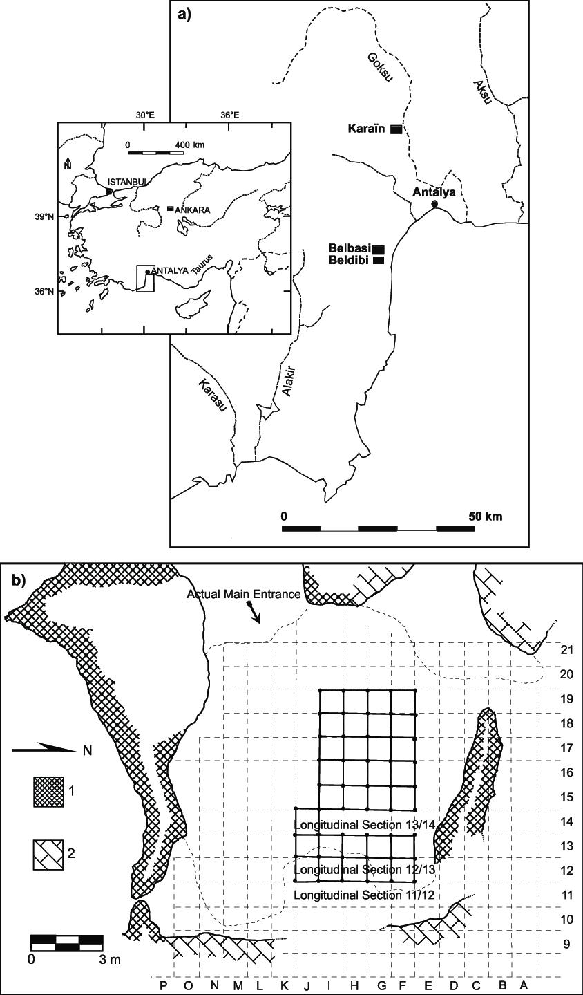 hight resolution of a location of the kara n cave antalya turkey black rectangle