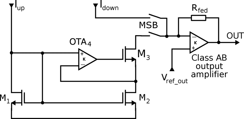 Block diagram of current mirror and high-swing output