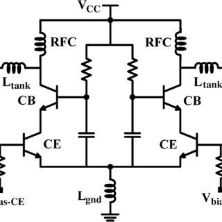Simplified circuit schematic of the linear Op-Amp with a