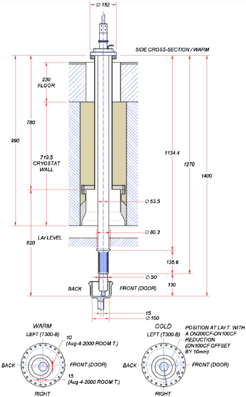 medium resolution of the hv feedthrough position for the t600 detector the lower figure heat detector wiring diagram t300
